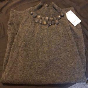 Vince Cashmere Jeweled Sleeveless Sweater